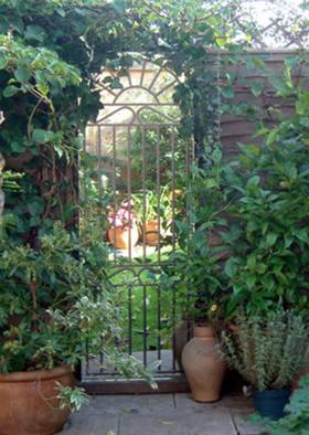 Glass garden mirrors by Looking Glass Gates